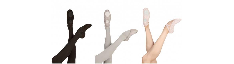 Mezze punte-tela-pelle-elasticizzate