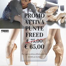 È ufficialmente iniziata la promozione sul sito e in negozio per l'acquisto delle punte Freed (Studios Professional, Class Pro 90, 90 H, H, normali, light).  Valida fino al 31 maggio   #dancing#dancingismylife#pointeshoes#freedoflondon#sale